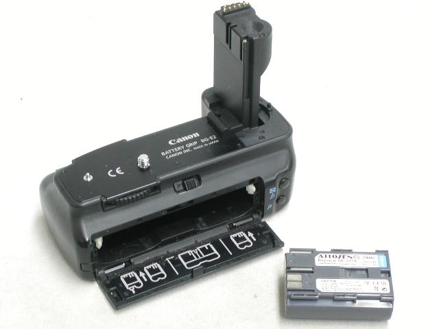 BATTERY GRIP BG-E2  w/ 社外品バッテリー