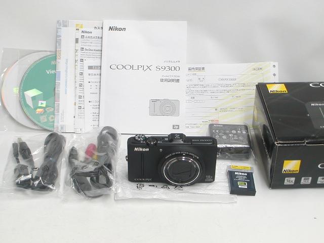 【極上】 COOLPIX S9300 (Black) 【保付】
