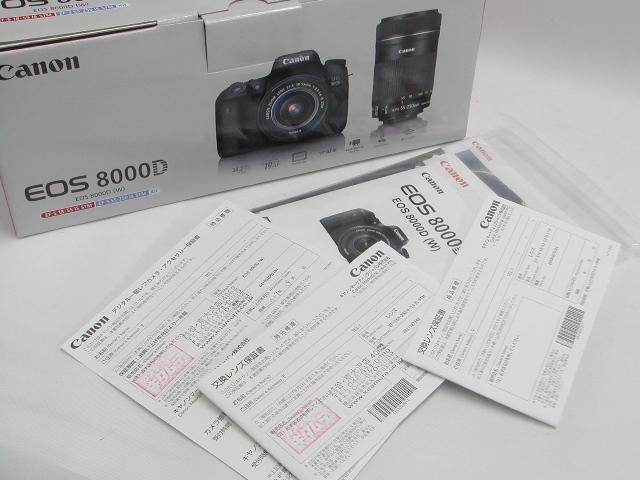 【極上】 EOS 8000D Double Zoom Kit 【保印】