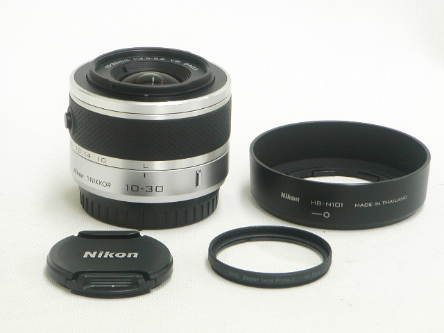1 NIKKOR 10-30mm 1:3.5-5.6 VR (Silver) w/Hood.Protector