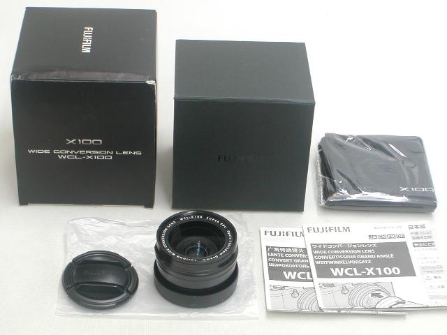 【極上】 ワイドコンバージョンレンズ WCL-X100 (Black)