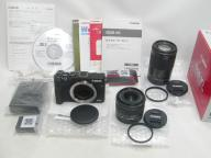 Canon 【極上】EOS M3 (Black) Double Zoom Kit【保付】