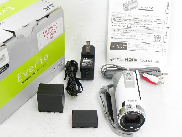 Everio GZ-E60-W (White)  w/ 長時間バッテリー