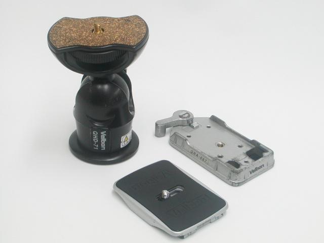 自由雲台 QHD-71 / クイックリリースアダプター QRA-667