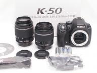 PENTAX 【美品】 K-50 Double Zoom Kit (DAL 18-55 AL WR ・ 55-200 ED WR)