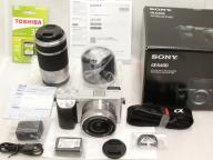 "SONY 【極上】 α6400 Double Zoom Lens Kit (Silver) ""ILCE-6400Y"" w/ 32GB 【保付】"